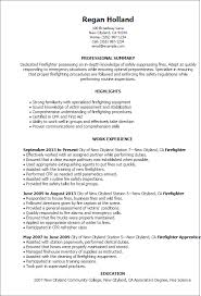 Examples Of Professional Summary For Resume by Professional Firefighter Templates To Showcase Your Talent