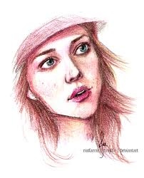 Realistic colored pencil portraits : celebrity And  girls Sketches
