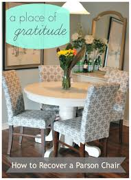 a place of gratitude how to recover a parson chair