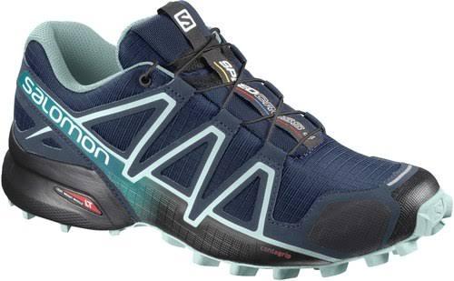 Salomon Speedcross 4 Trail Running Shoe Poseidon/Eggshell Blue/Black Medium 10.5 L40243100-10.5