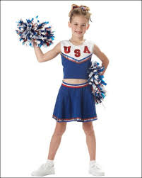 Patriotic Halloween Costumes Girls Costumes Patriotic Cheerleader Usa Blue Costume Outlet
