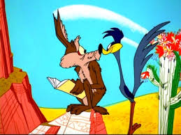 The Road Runner cartoon was filled with road rage when the Coyote tried to kill the always lucky road runner.