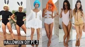swimsuit halloween costumes 5 halloween diy costumes part 2 youtube