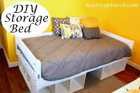 Build Diy Platform Bed by Diy Platform Bed With Storage How To Build A Twin Size Platform