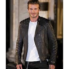 men s moto jacket david beckham leather jacket black leather motorcycle jacket