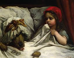 red riding hood painting gustave dore