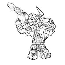 lego nexo knights axl coloring pages for kids