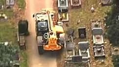 Britânico causa destruição em cemitério com trator roubado