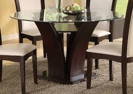Oval Dining Room Tables Furniture Modern Design Glass Top Oval Dining Table With Wooden