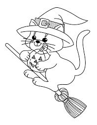 cat halloween coloring pages u2013 halloween wizard