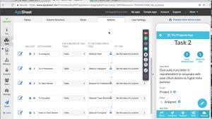 Project Management Spreadsheet Project Management Apps 2 Appsheet Webinar Youtube