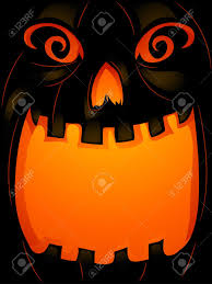 background halloween illustration of a jack o u0027 lantern with its