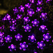 Patio Lights Outdoor by Cheap Solar Flower String Lights Outdoor Fairy 50 Led Blossom