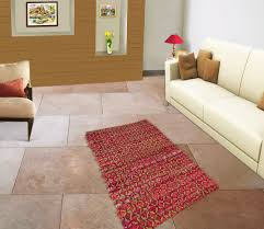 Multicolor Rug Cotton Jute Chindi Rug Woven Striped Recycled Rag Dari Floor