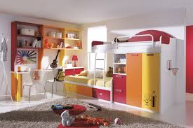 Two Twin Beds In Small Bedroom Ravishing Small Bedroom For Kids With Twin Loft Bed Plus Small