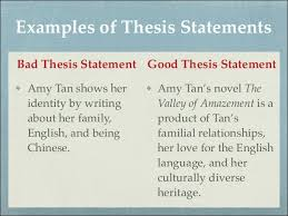 paragraph with good thesis statement