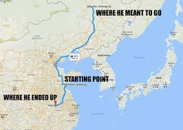 China Google Maps by Man Cycles Home Only To Realise He U0027d Gone 310 Miles In The Wrong