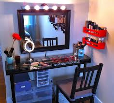 bedroom awesome make vanity design with makeup storage and glass