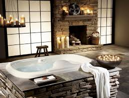 Natural Stone Bathroom Ideas Bathroom Rustic Bathroom Idea Of Natural Stone Fireplace And