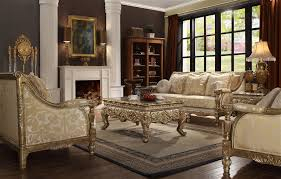 Sofa With Wood Trim by Victorian Wood Trim 2 Piece Living Room Set By Homey Design Hd 205