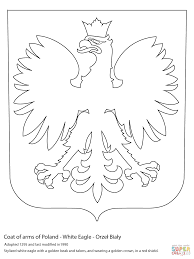 coat of arms of poland coloring page free printable coloring pages