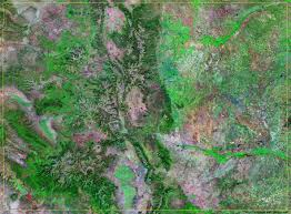 County Map Of Colorado Colorado Satellite Images Landsat Color Image