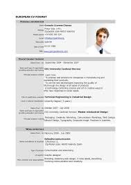 Best Resume Job by Free Download Cv Europass Pdf Europass Home European Cv Format Pdf
