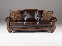 Carolina Leather Sofa by Barcelona Traditional Antique Faux Leather Sofa W Cushion Back