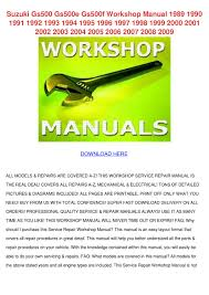 suzuki gs500 gs500e gs500f workshop manual 19 by julieta annala