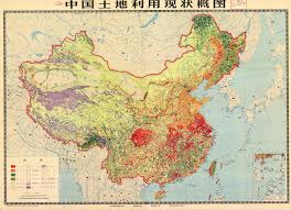 Thematic Maps China Thematic Map Agriculture Vegetation Topografical Map