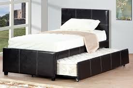bedroom cozy wood tile flooring with black daybed with trundle