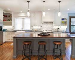 wood countertops kitchen island designs with seating lighting