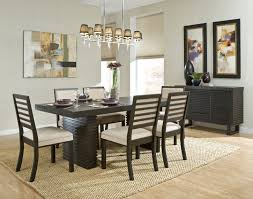 dining room rug size wood grain finish with metal frame