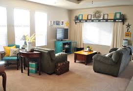 home decor my turquoise and yellow family room craft o maniac