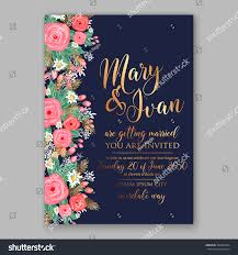 Printable Invitation Card Stock Wedding Invitation Printable Template Floral Wreath Stock Vector