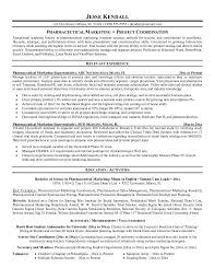 Resume Examples  Resume Example For Pharmaceutical Marketing With Relevant Experience As Pharmaceutical Marketing Representative And Rufoot Resumes  Esay  and Templates