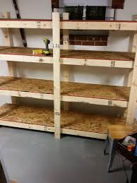 Build Wooden Shelf Unit by Build Easy Free Standing Shelving Unit For Basement Or Garage 7