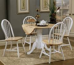 round drop leaf dining set furniture stores chicago