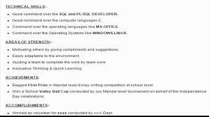 resumes format for freshers sql developer sample resume format youtube