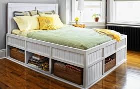 Woodworking Plans For A Platform Bed With Drawers by How To Build A Storage Bed This Old House