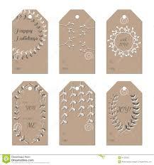 christmas new year holidays gift tags set stock vector image