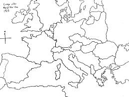 Blank Europe Map by World War Ii Tiered Instruction