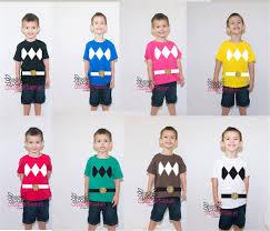 power ranger shirts kids u0027 group halloween costume ideas
