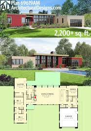 Split Level Ranch Floor Plans by Plan 69619am 3 Bed Modern House Plan With Open Concept Layout