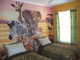 Nursery Room Theme Decoration Jungle Themed Bedrooms For Kids Cream Baby Nursery