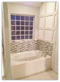 bathroom tub glass tile backsplash master bathroom update u0026 how