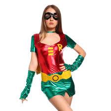 womens superhero robin cosplay costume hen party fancy dress