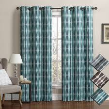 Blackout Curtain Panels Virginia Grommet Blackout Weave Embossed Window Curtains Set Of 2