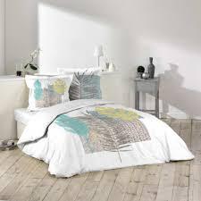 chemin de lit en lin linge de lit déco couleurs maison