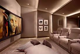 chicago home theater installation lower storey cinema room hometheater projector home theatre